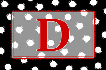 Placemat- BW Red Dots