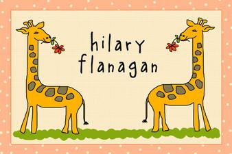 Placemat- Geoffrey the Giraffe