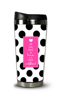 Personalized Travel Tumbler- Coffee Love
