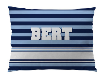 Dog Bed-NAVY and LIGHT BLUE RUGBY