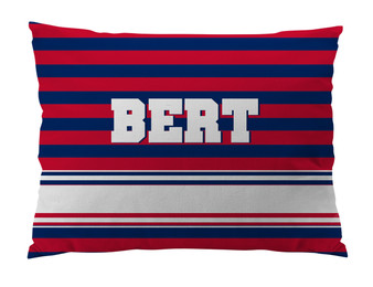 Dog Bed-RED and NAVY RUGBY