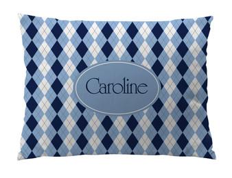 Dog Bed-Carolina Argyle