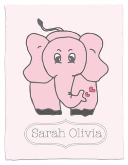 Blanket- Elephant Love