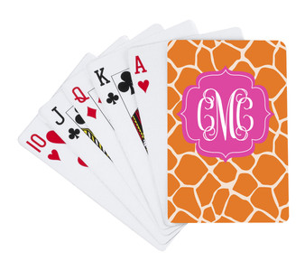 Playing Cards-Orange Giraffe