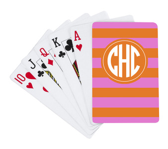 Playing Cards-Pink and Orange Stripe