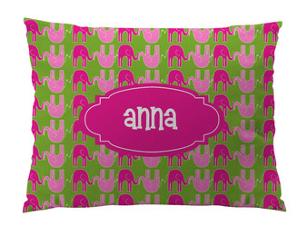 Floor Pillow- Prep Pink Elephants