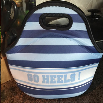 Lunch Tote- Rugby Navy and Light Blue