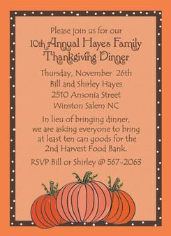 Invitation- Thanksgiving Pumpkins
