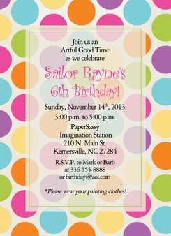 Invitation-Polka Dots Brights