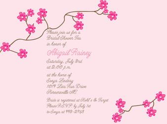 Invitation-Cherry Blossoms