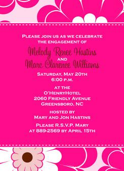 Invitation-Hot Pink Floral