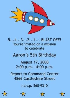 Invitation-Aaron the Rocket
