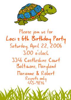 Invitation-Laci Turtle