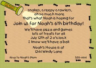 Invitation-Noah Ants