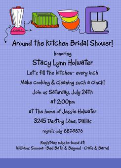 Invitation-Around the Kitchen