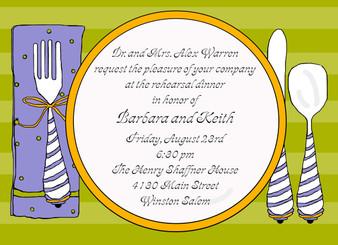 Invitation- Dinner and a Napkin