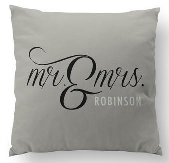 Pillow-Mr. and Mrs. Khaki