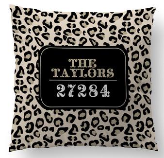 Pillow-Leopard Zip