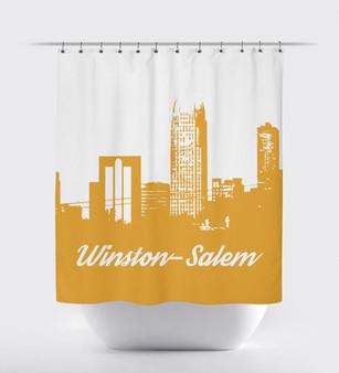 Shower Curtain- Winston Salem Mustard