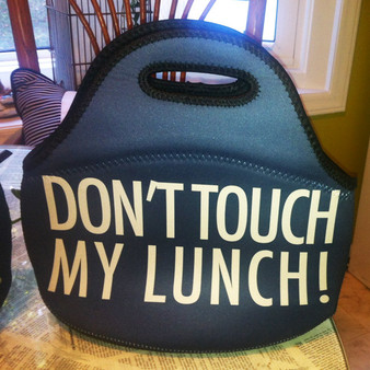 Lunch Tote- Don't Touch My Lunch-Navy