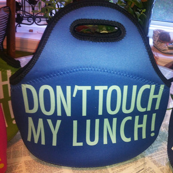 Lunch Tote- Don't Touch My Lunch-Royal