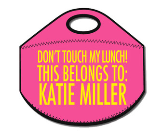 Lunch Tote- Don't Touch My Lunch- Pink II