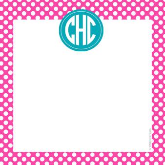 Scribble Square-Hot Pink Polka Dot