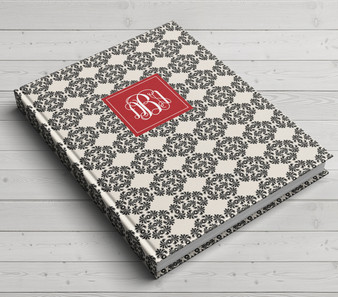 Custom Journal-Damask Frilly
