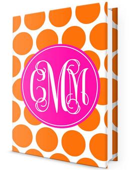 Custom Journal-Orange Dots