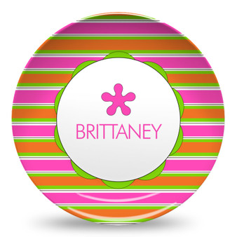 Microwave Safe Dinnerware Plate-Brittany Stripes