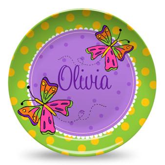 Microwave Safe Dinnerware Plate-Butterflies