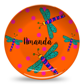 Microwave Safe Dinnerware Plate-Dragonfly
