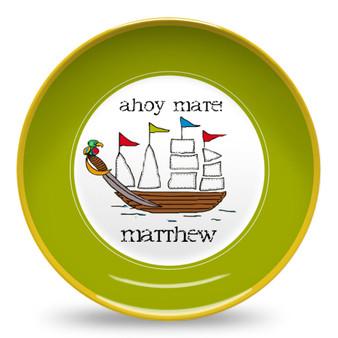Microwave Safe Dinnerware Plate-Pirate Ship