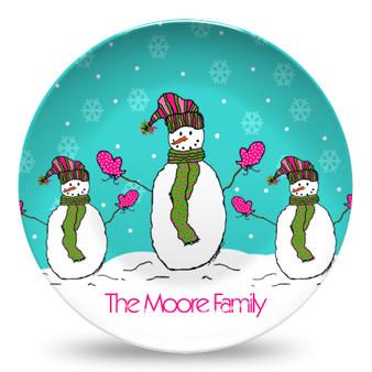 Microwave Safe Dinnerware Plate-Snowmen