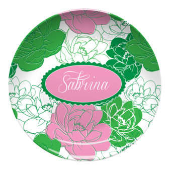 Microwave Safe Dinnerware Plate-Sorority Rose AKA