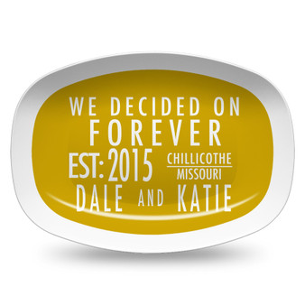 Microwavable Platter- Forever Mustard