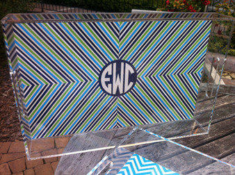 Acrylic Tray- Stripes Alive