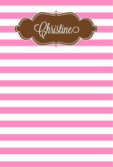 Fat Pad-Pink Stripes