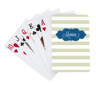 Playing Cards -Khaki Stripes