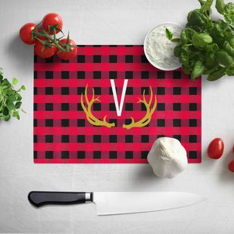 Cutting Board - Buffalo Plaid Red