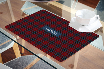 Placemat- Grateful Red plaid