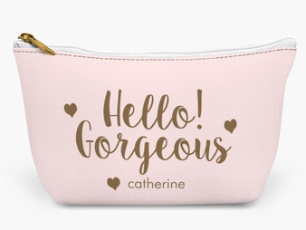 Accessory Zip T-Tote- Hello Gorgeous Pink