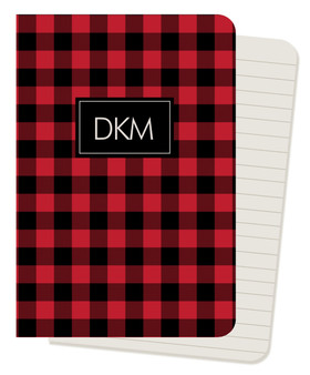 Mini Journals - Buffalo Check Red