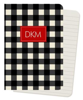 Mini Journals - Buffalo Check Black