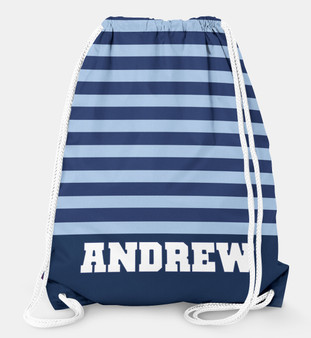 Drawstring Backpack-Rugby Stripe