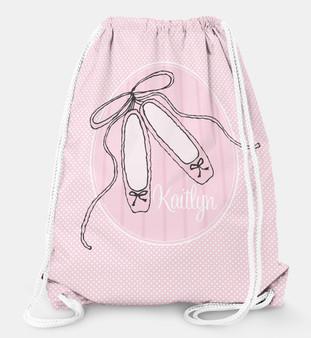 Drawstring Backpack-Ballet Dancer