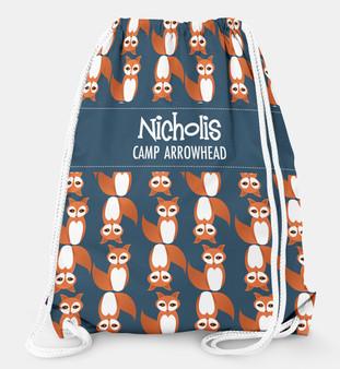 Drawstring Backpack- Fox