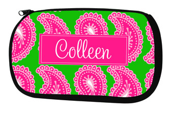 Cosmetic Bag-Pink Paisley