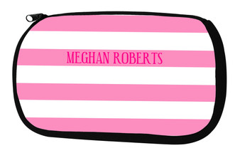 Cosmetic Bag-Pink Stripes