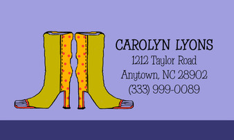 Calling Cards- Sassy Boots